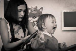 Kinder Friseur Junge